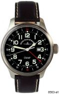 ZENO WATCH BASEL 8563-a1 Pilot Oversized GMT