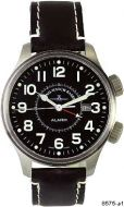 ZENO WATCH BASEL 8575-a1 Pilot Oversized Alarm Automatic